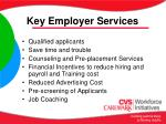 key employer services