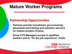 mature worker programs