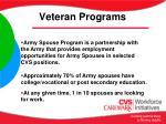 veteran programs