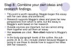 step 8 combine your own ideas and research findings