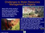 challenges to water resources management in nigeria15