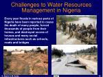 challenges to water resources management in nigeria16