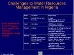 challenges to water resources management in nigeria17