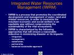 integrated water resources management iwrm