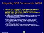 integrating drr concerns into iwrm