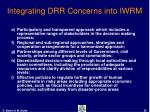 integrating drr concerns into iwrm25