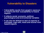 vulnerability to disasters