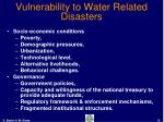 vulnerability to water related disasters