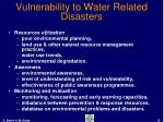 vulnerability to water related disasters13