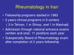 rheumatology in iran