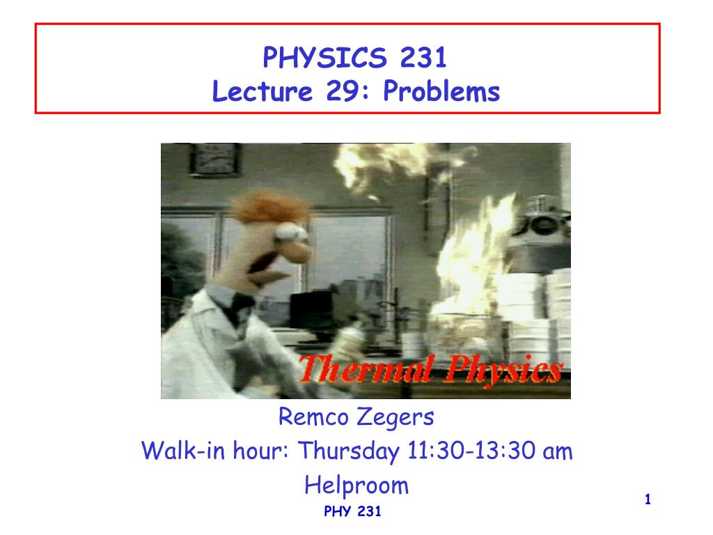 physics 231 lecture 29 problems l.