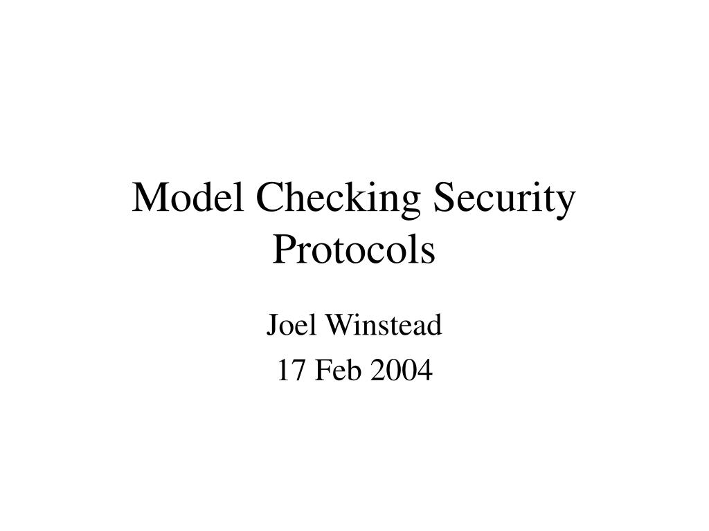 model checking security protocols l.