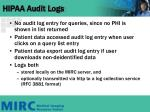 hipaa audit logs