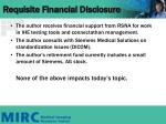 requisite financial disclosure