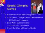 special olympics games