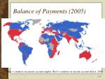 balance of payments 2005