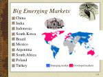 big emerging markets