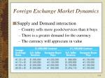 foreign exchange market dynamics