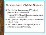the importance of global marketing