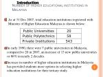 number of higher educational institutions in malaysia