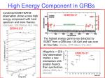 high energy component in grbs
