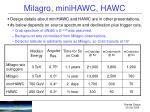 milagro minihawc hawc