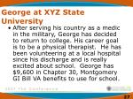 george at xyz state university