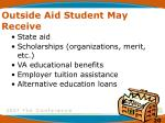 outside aid student may receive