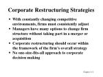 corporate restructuring strategies