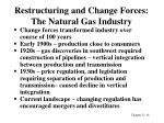 restructuring and change forces the natural gas industry