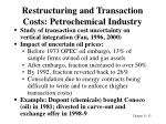 restructuring and transaction costs petrochemical industry