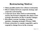restructuring motives