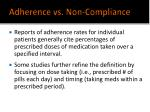 adherence vs non compliance10