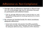 adherence vs non compliance12