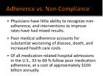 adherence vs non compliance13