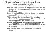 steps to analyzing a legal issue mallory s bar analysis