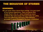 the behavior of storms