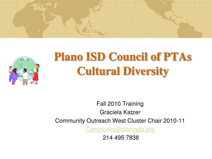 Plano isd council of ptas cultural diversity