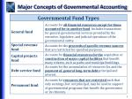 major concepts of governmental accounting9