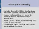 history of cohousing