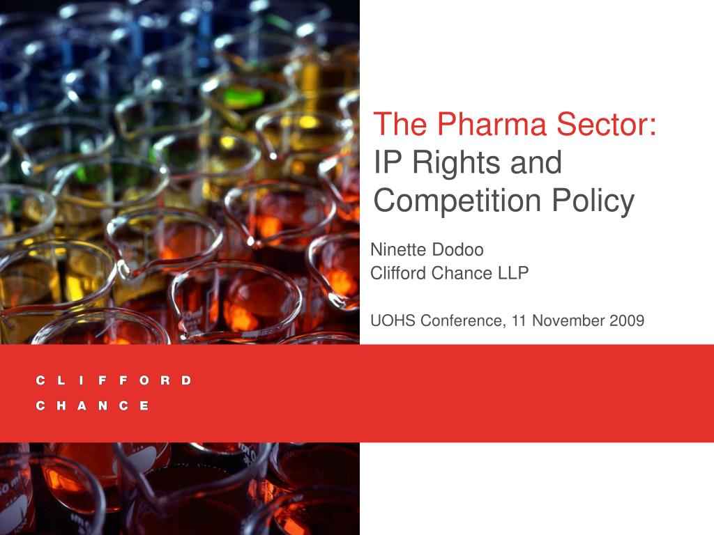 the pharma sector ip rights and competition policy l.