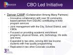 cbo led initiative