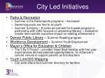 city led initiatives
