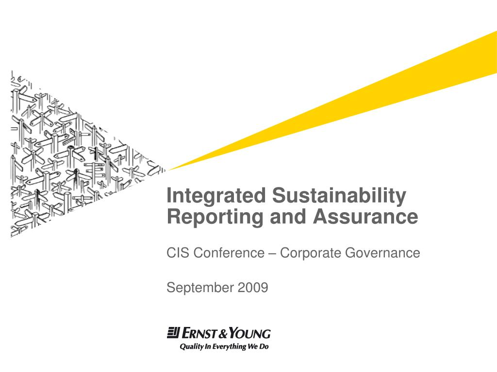 integrated sustainability reporting and assurance l.