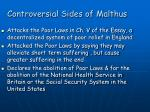 controversial sides of malthus