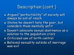 description cont