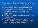 the core principles of malthus