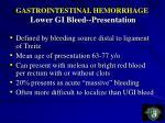 gastrointestinal hemorrhage lower gi bleed presentation