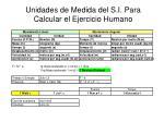 unidades de medida del s i para calcular el ejercicio humano