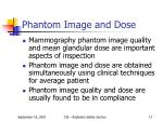phantom image and dose